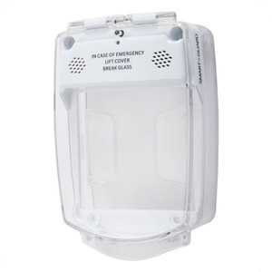 White Emergency Call Point Cover