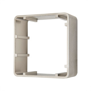 Single Gang, Metal Finish Mounting Frame