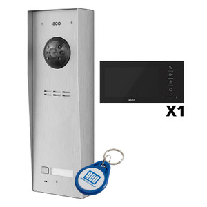 "1 Way Video Door Entry Kit with 7"" Black Monitor"