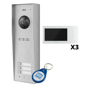 "3 Way Video Door Entry Kit with 7"" White Monitor"