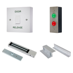 Wait & Enter Access Control Kit, Door Release Switch, Maglock, Z & L Brackets