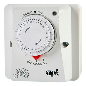 APT Analogue Time Switch, 24hr Dial, Automatic, Permanent On/Off