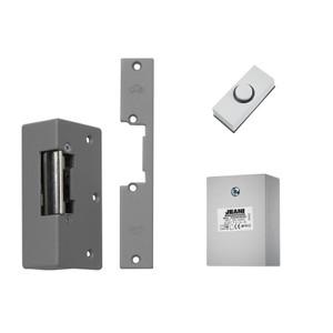 White Push Button, Grey Electric Lock