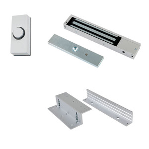 Small white door bell button, Fail safe Maglock  and Z & L Brackets