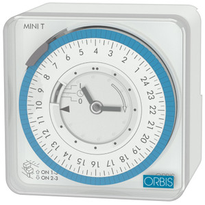 ORBIS Analogue Timer, White, Din Rail and Surface Mounting