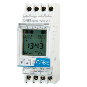 ORBIS Digital Astronomical Timer, DIN Rail, with Protective Clear Window