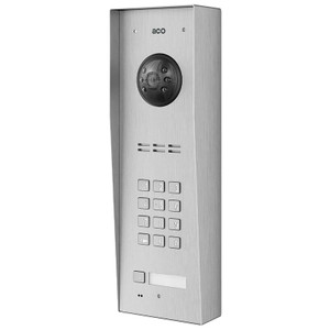 1 Way Video Door Entry Panel with Keypad, Surface Mount, Stainless Steel