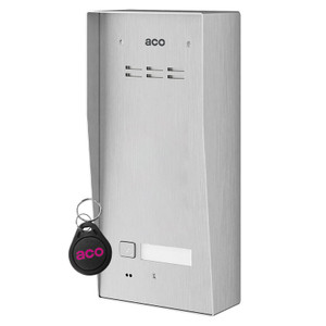 1 Way Audio Door Entry Panel, Surface Mount, Stainless Steel, Key Fob