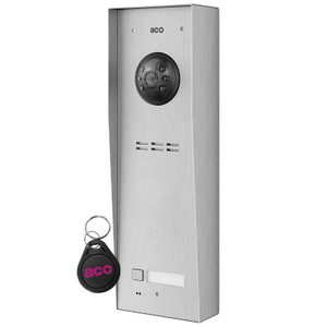 1 Way Stainless Steel, Surface Mount, Video Door Entry Panel with Fob