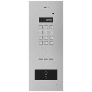 Stainless steel audio door entry panel - code lock, LCD display, RFID reader
