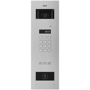 Stainless steel video door entry panel with code lock, LCD display and RFID reader