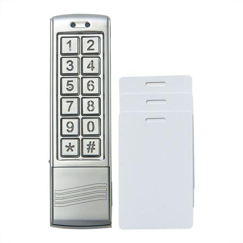 Slimline Keypad/Proximity Card Reader and 3 Proximity Cards