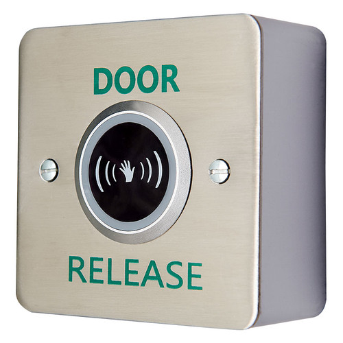 Surface Mount Infra-Red Exit Button, Brushed Stainless Steel
