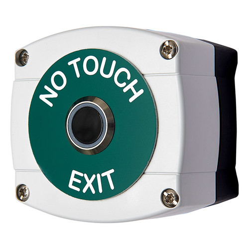 Infrared Door Release Exit Button, green and white legend - IP65