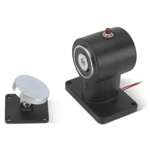 Black floor mounted door retaining magnet