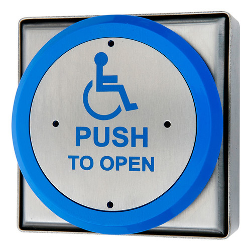 Large Stainless Steel Disabled Push To Open Exit Button