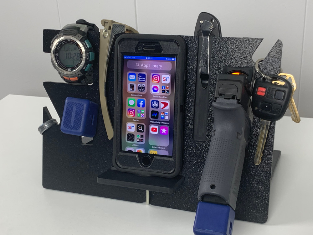 The EDC Stand holds all your Every Day Carry gear in one neat and organized place.