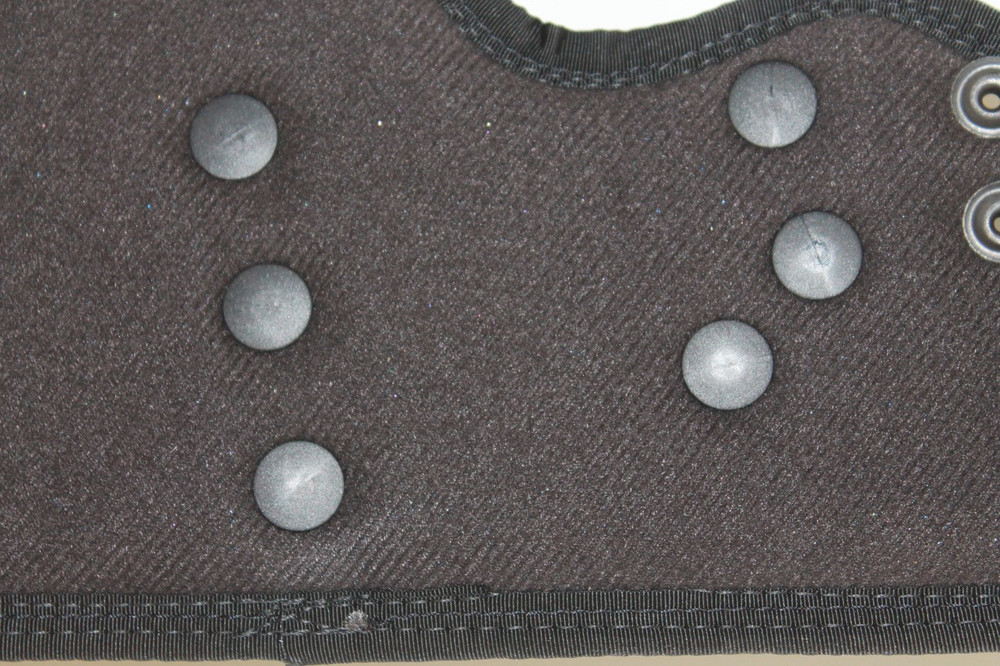 The flush mount, smooth contact Kydex shell fasteners can not be felt against the skin, ensuring all day concealed carry comfort.