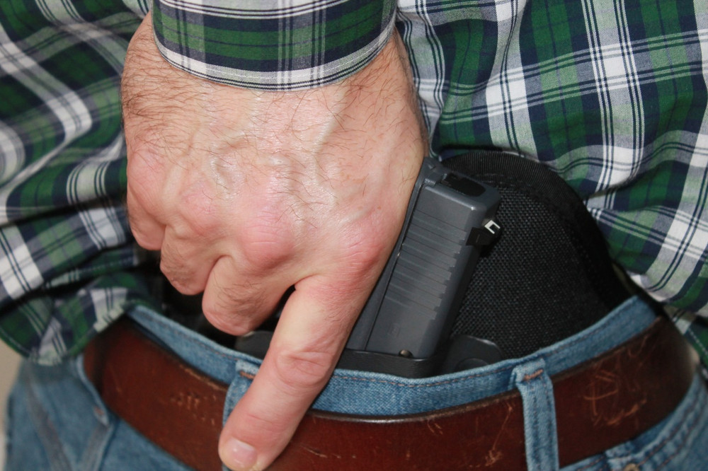 A full grip scenario is realized every time you draw from the TRR IWB concealed cary holster.