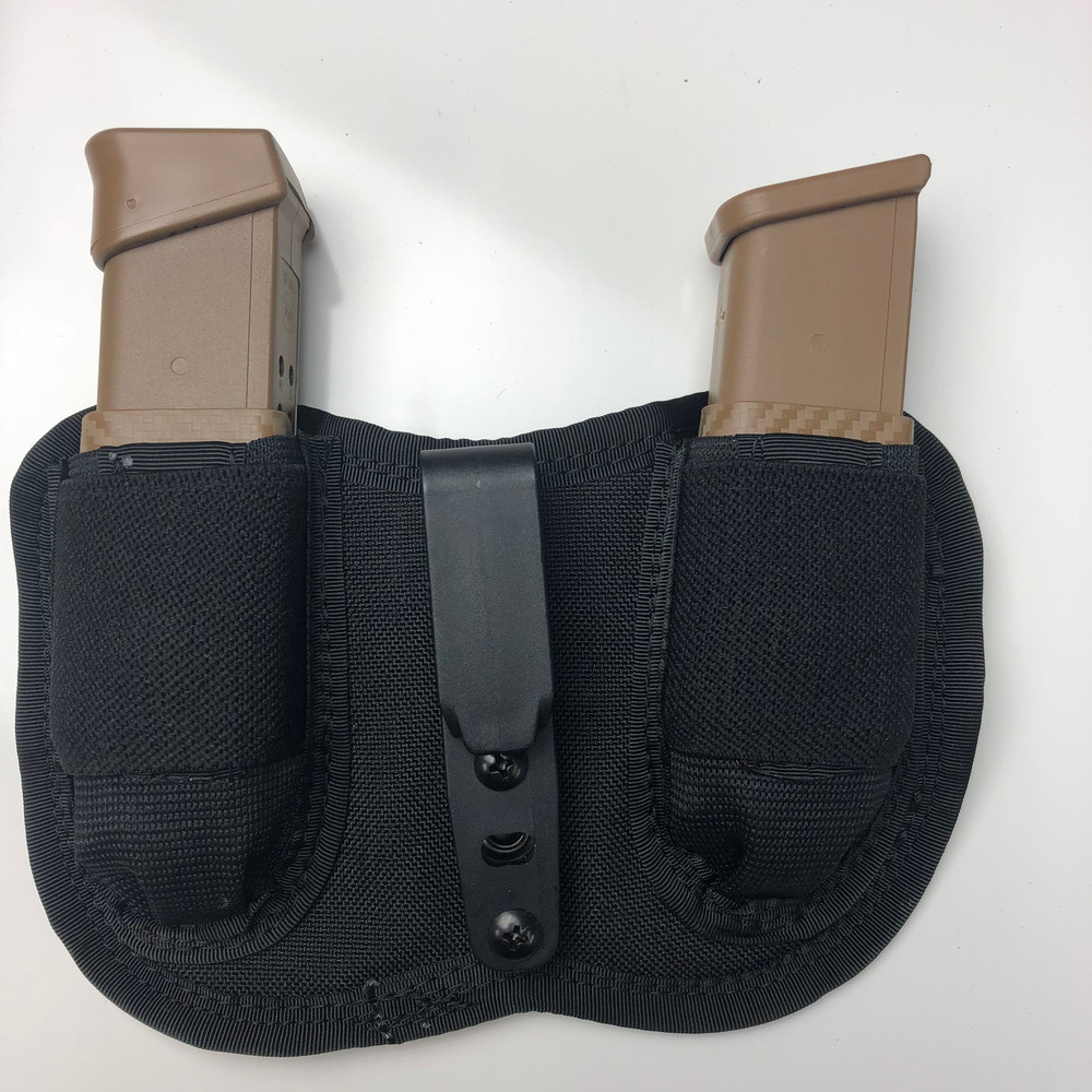 Dual Enhanced MAX Mag holster with custom Kydex color half shell added. Coyote Brown.