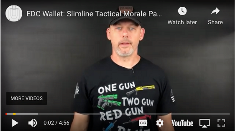 EDC Wallet: Slimline Tactical Morale Patch Wallet