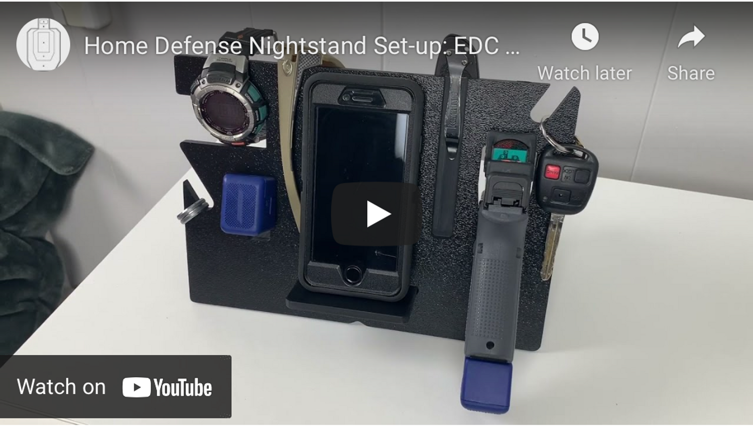 Home Defense Nightstand Set-up: EDC Stand vs. Dump Tray