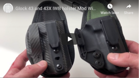 Glock 43 and 43X IWB holster Mod Wing or Lever?