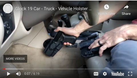 Glock 19 Car - Truck - Vehicle Holster Mount Installation