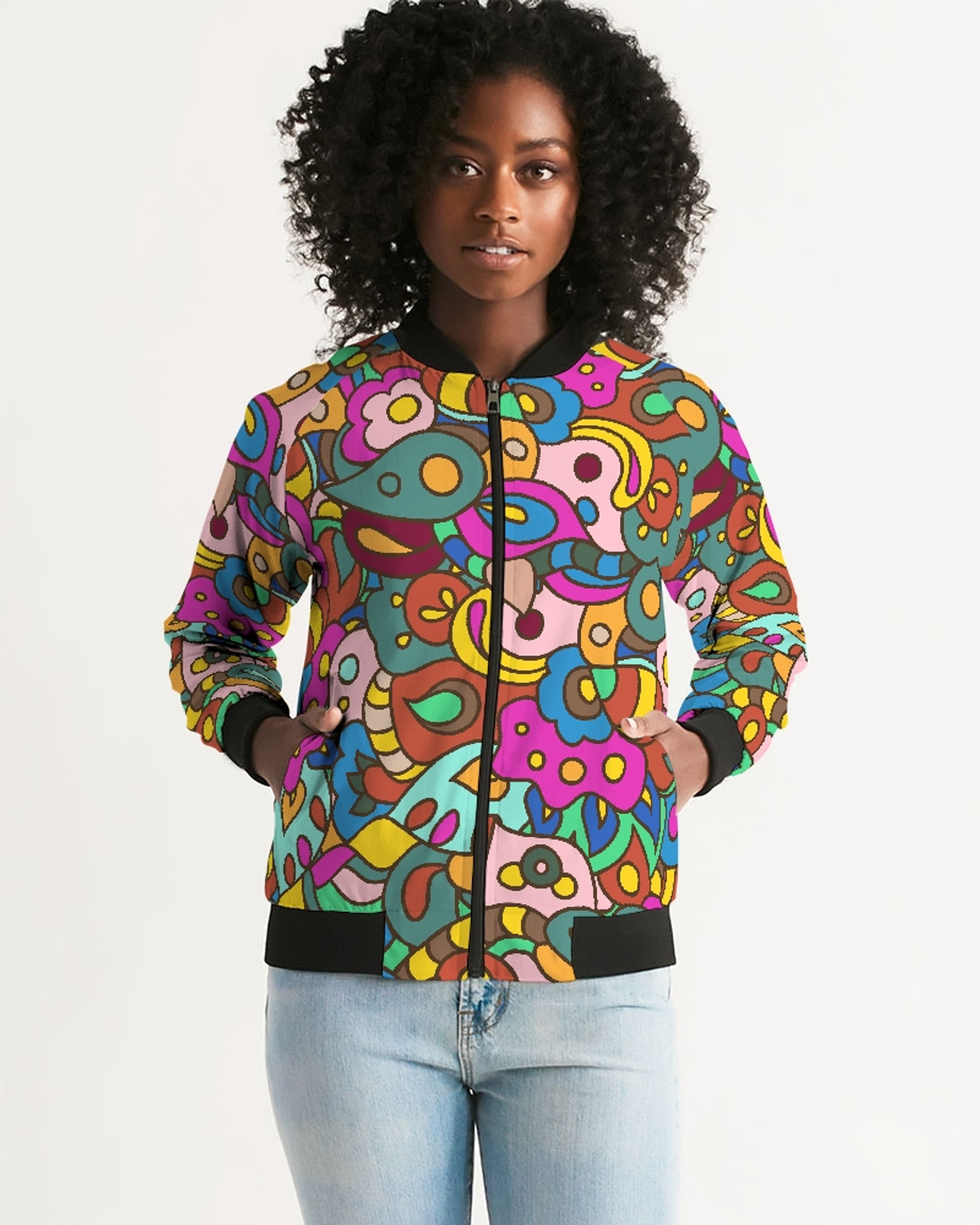 Flower Power Bomber Jacket