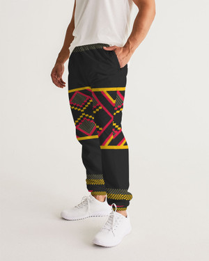 Men's Kente Stripes Track Joggers