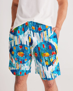 Men's Circles and Diamonds Jogger Shorts