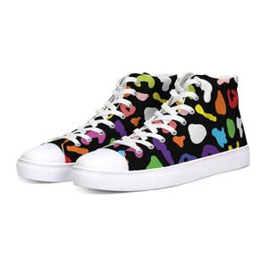 Rainbow Cheetah Hi-Top Unisex Sneakers