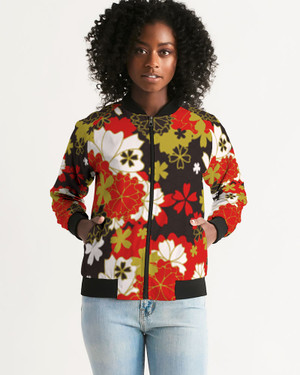 Women's Japan Black Bomber Jacket
