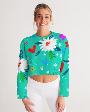 Garden Flower Cropped Sweatshirt