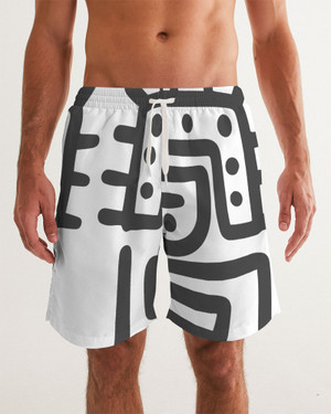Black and White Swim Trunks