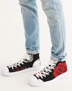 Skulls and Roses Hi-Top Sneakers