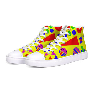 Wingdings Yellow Hi-Top Sneakers