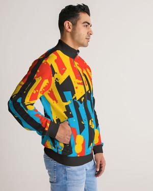 Men's Urban Stripe-Sleeve Track Jacket