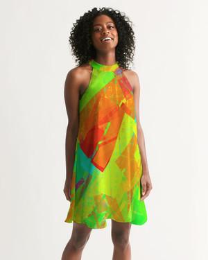 Blocks 2 Halter Dress
