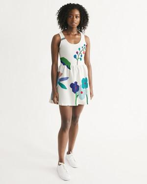 Windy flowers Scoop Neck Skater Dress