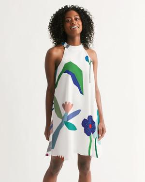 Windy flowers Halter Dress