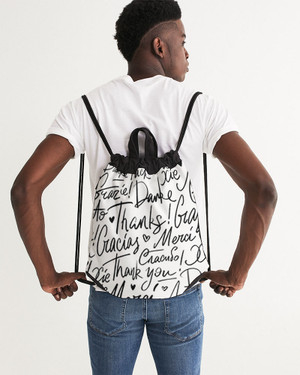 Thank you Canvas Drawstring Bag
