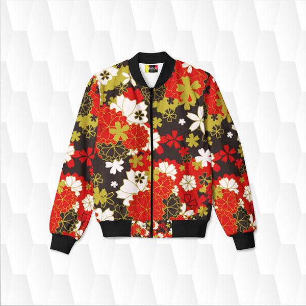 Women's Japan Black Bomber Jacket