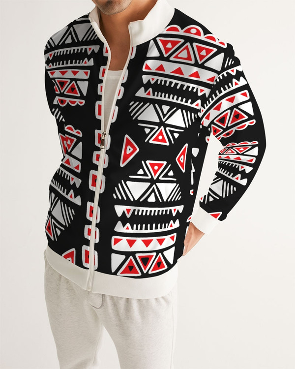 Aztec Red Black and White Track Jacket