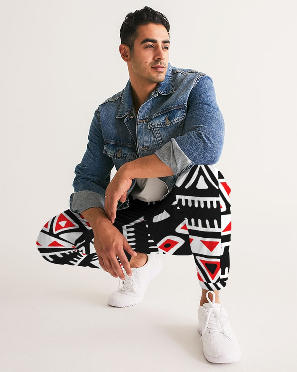 Aztec Red Black and White Track Pants