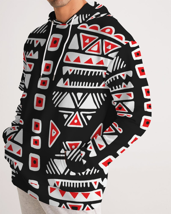 Aztec Red Black and White Pullover Hoodie