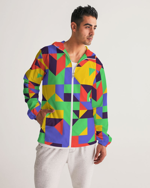 Abstract Repetitive Pattern Windbreaker