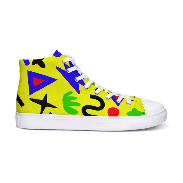 Wingdings Yellow Hi-Top Sneakers