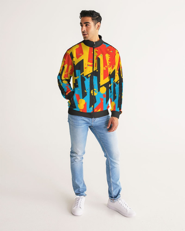 Men's Urban Stripe-Sleeve Track Jacket