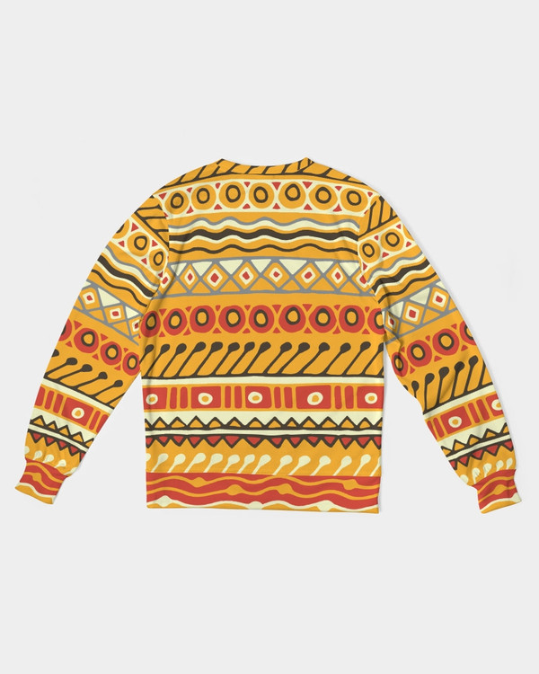 Men's Tribal French Terry Crewneck Pullover Sweatshirt